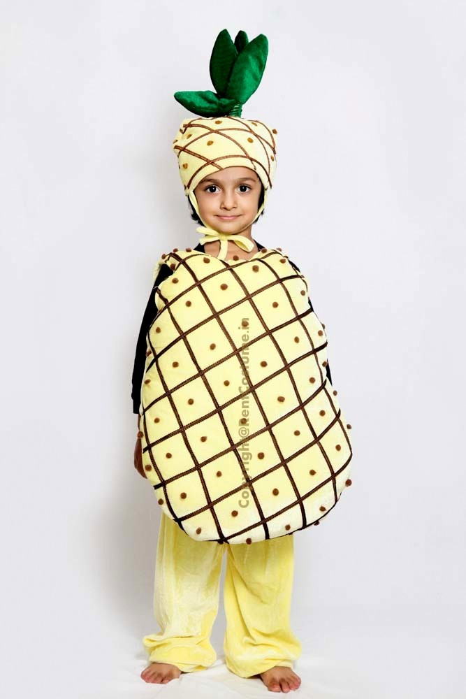 d5ce8f65480ae8 Pineapple Fancy Dress for Kids (2-7 Yrs) - RentCostume.in