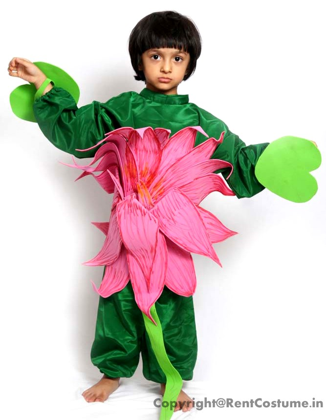 Lotus Fancy Dress For Kids 3 7 Yrs Rentcostumein