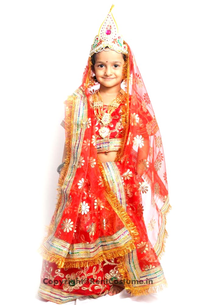 Radha Rani Fancy Dress For Kids 3 7 Yrs Rentcostume In